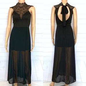 A'gaci Maxi High Neck Maxi Dress